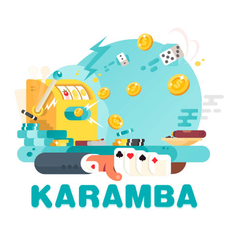 karamba casino branded image with slots and card games