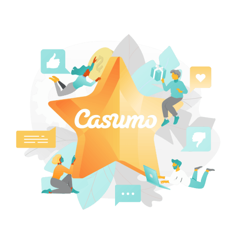 Casumo with a star and social media likes