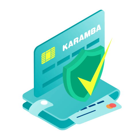 karamba branded image of a wallet with credit cards