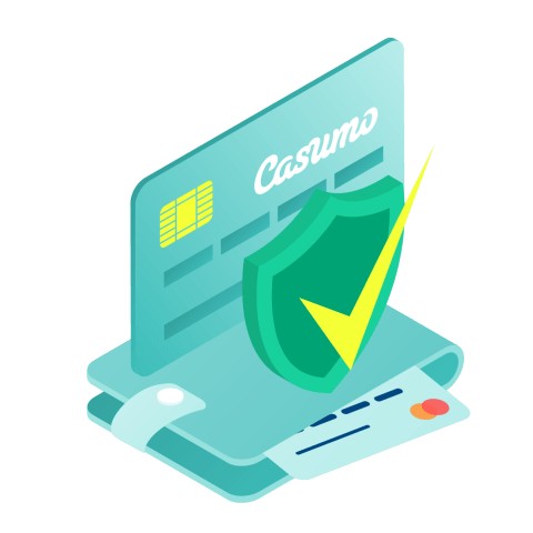 Casumo credit card and wallet. Safe deposits